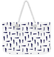 Brush Stroke Navy - Weekender
