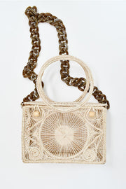 Casey Natural | Palm Basket/Shoulder Bag