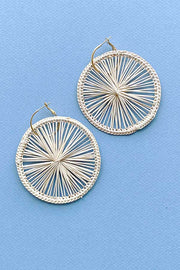 Citrus Maxi Palm Earrings | Natural