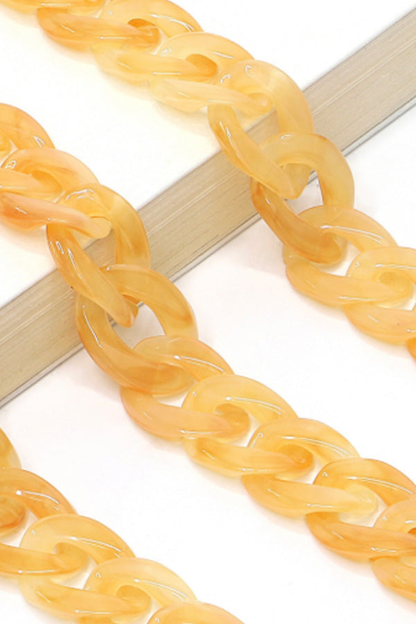 Versatile Resin Chain | Clear Yellow