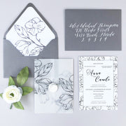 Flower Sketch - Wedding Invitation