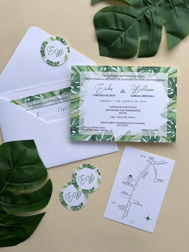 Monstera - Wedding Invitation