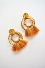 Rings Mustard | Palm Tassel Statement Earrings