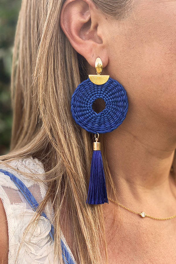 Juno All Blue | Palm Earrings