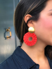 Mocana Circle Stud | Palm Statement Earrings - All Colors