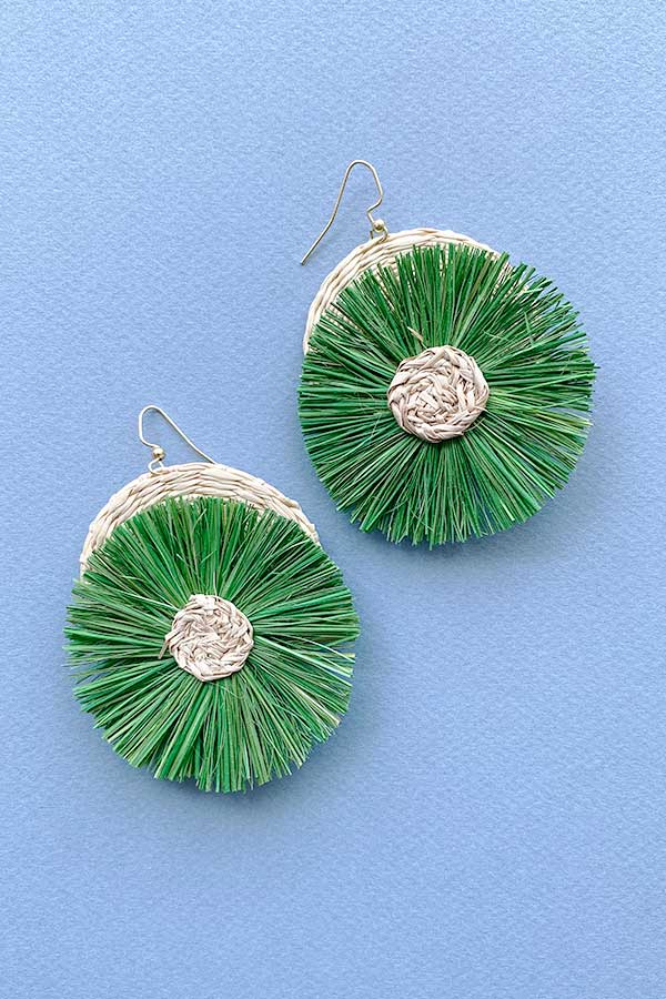 Margarita Palm Earrings | Green