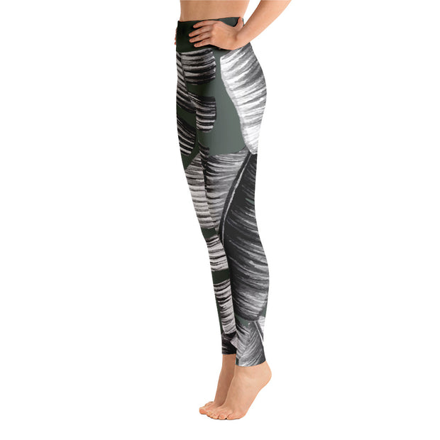 Banana Leaves Sage - Leggings