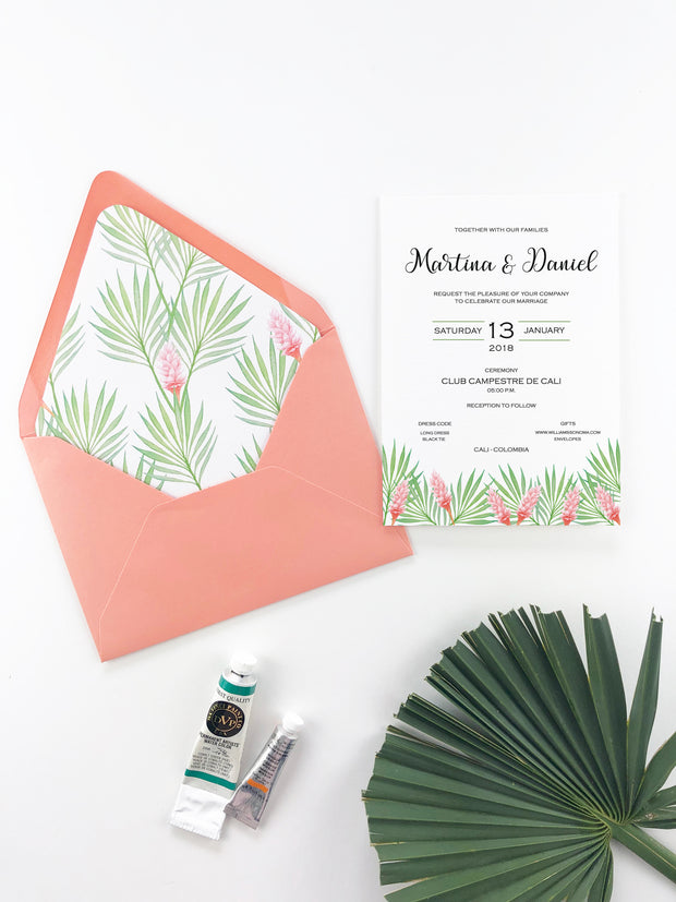 Palms Exotic - Wedding Invitation
