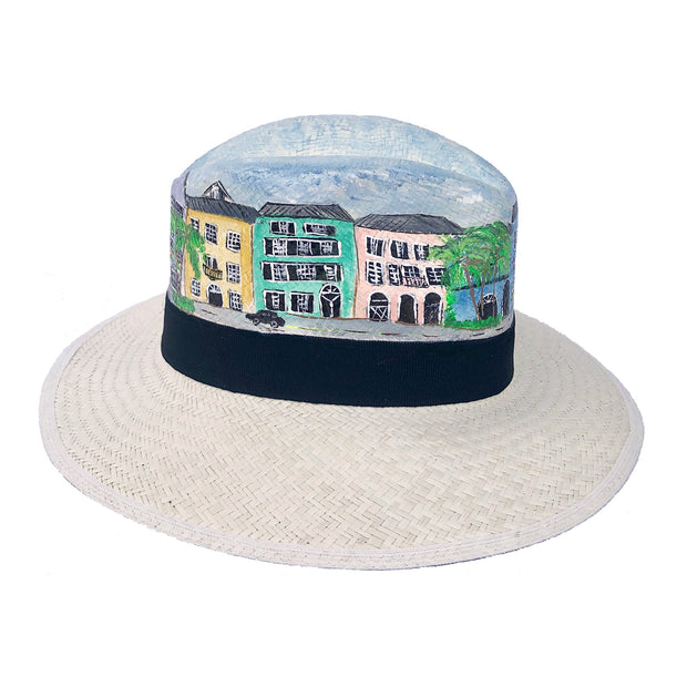 Rainbow Row | Hand Painted Hat