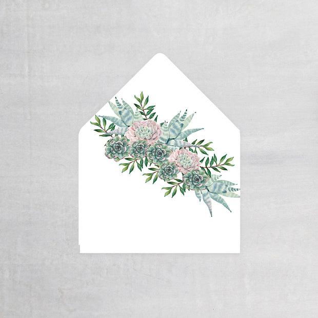 Succulents - Envelope Liner