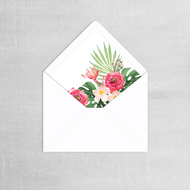 Tropical - Envelope Liner
