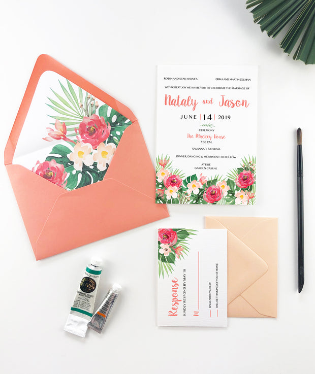 Tropical - Wedding Invitation