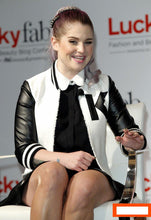 Load image into Gallery viewer, Kelly Osbourne Varsity Jackets for Women Custom Letterman Jackets Design Your Own