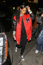 Load image into Gallery viewer, Singer Rihanna Long Varsity Jacket High School Letterman Jacket