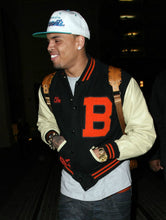 Load image into Gallery viewer, Chris Brown Men's Varsity Jackets Letterman Jacket for High School Letter B