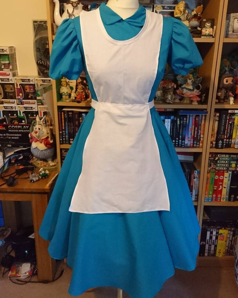 Alice in Wonderland Outfit - Blue Alice Apron Maid Dress Alice Costume