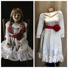 Load image into Gallery viewer, Annabelle Costume Annabelle White Red Dress for Girls Kids