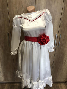 Annabelle Costume Annabelle White Red Dress for Girls Kids