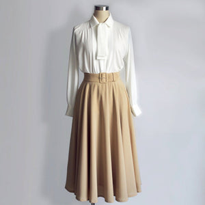 Audrey Hepburn White Blouse 1950's Pleated Blouse from Roman Holiday