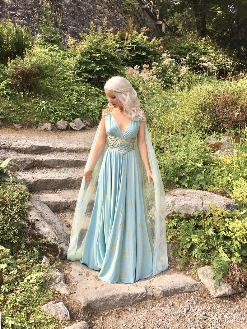 Blue Daenerys Qarth Dress from Game of Thrones