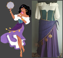 Load image into Gallery viewer, Esmeralda Costume Esmeralda Outfit for Adults inspired The Hunchback of Notre Dame