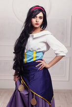Load image into Gallery viewer, Esmeralda Dress Esmeralda Costume White Purple Outfit from Hunchback of Notre Dame