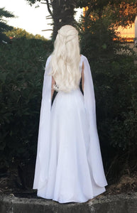 Game of Thrones White Meereen Dress Cosplay Costume for Adults