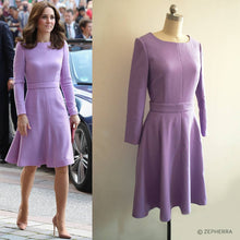 Load image into Gallery viewer, Kate Middleton Purple Lavender Dress Duchess Cambridge Dress