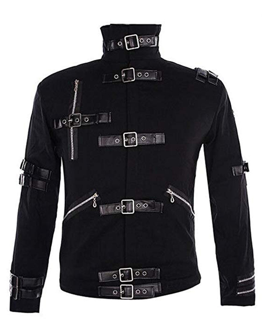 Michael Jackson Bad Costume Black Outfit Jacket for Male, Female, Kids