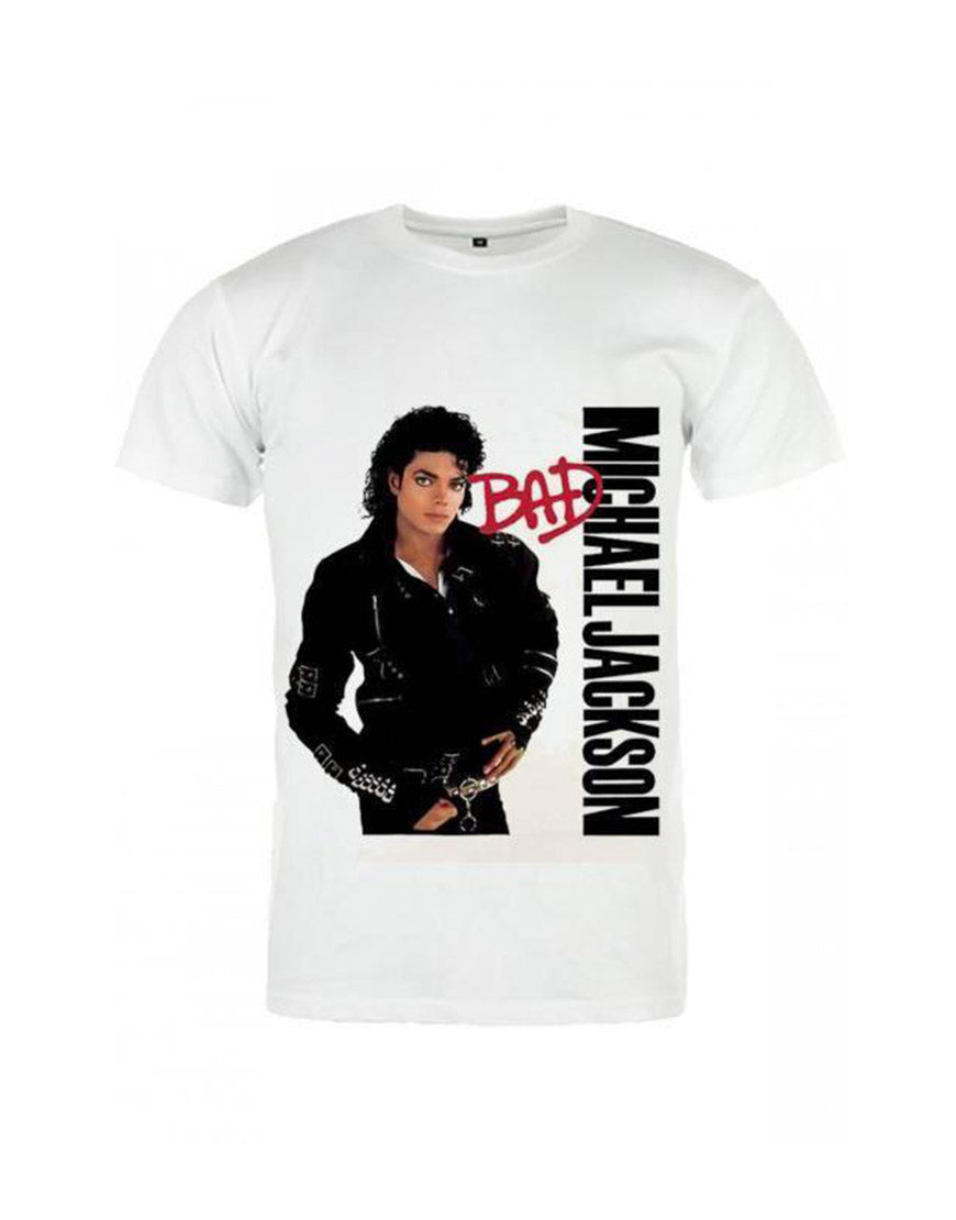 Michael Jackson Bad T-Shirt White Color