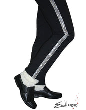 Load image into Gallery viewer, Michael Jackson Billie Jean Pants Black Silver Trousers