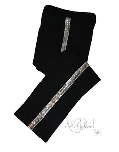 Michael Jackson Billie Jean Pants Black Silver Trousers
