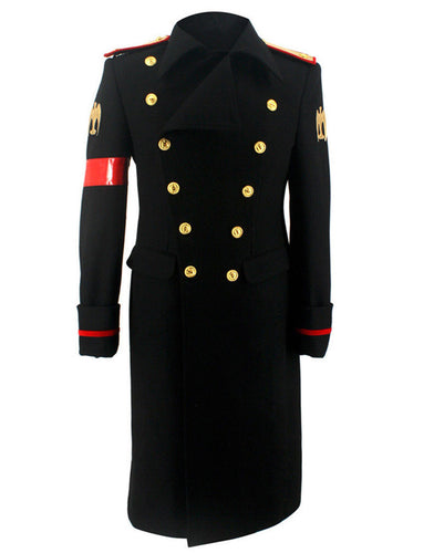 Michael Jackson Black Military Trench Coat MJ Costume