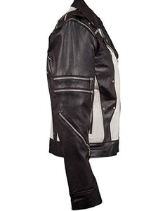 Michael Jackson Commercial Jacket Black White Leather Costume