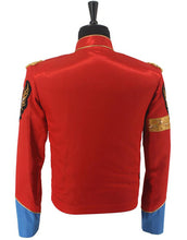 Load image into Gallery viewer, Michael Jackson Costume Red British Army Jacket for Men/Women/Kids