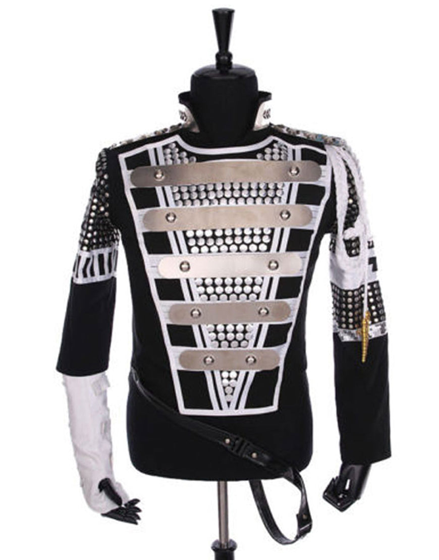 Kids/Men/Women Michael Jackson History Tour Outfit Black Jacket