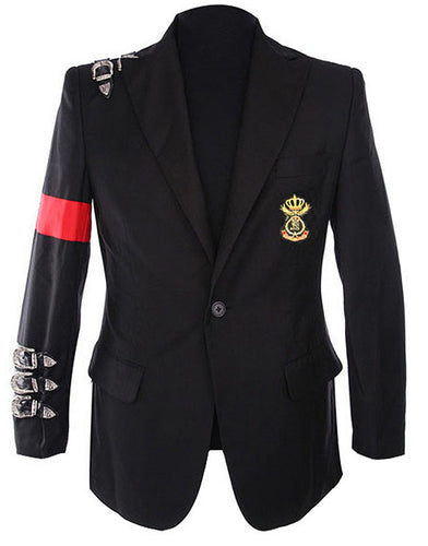 Michael Jackson Informal Bad Buckle Blazer Black Color