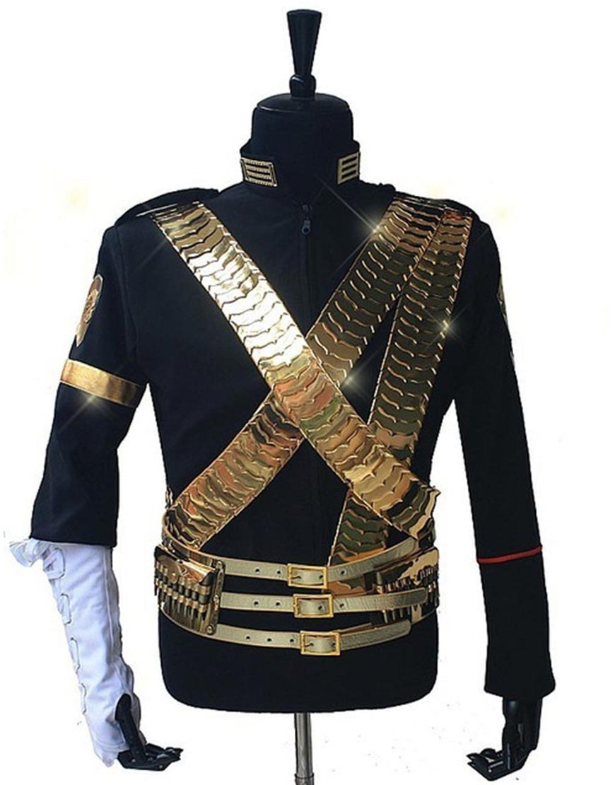 Michael Jackson Jam Jacket with Golden Belt for Man, Women, Kids