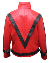 Load image into Gallery viewer, Michael Jackson's Red Thriller Jacket Leather Outfit for Male, Female, Kids