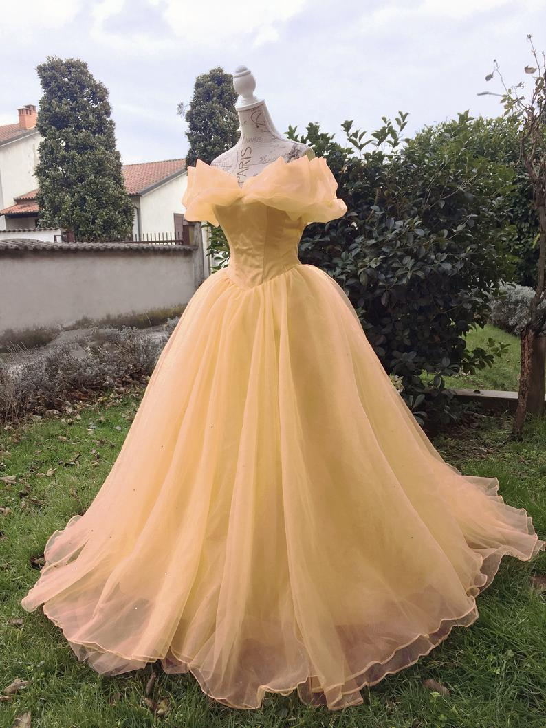 Princess Belle Dress Cosplay Costume for Women in All Size Plus Size