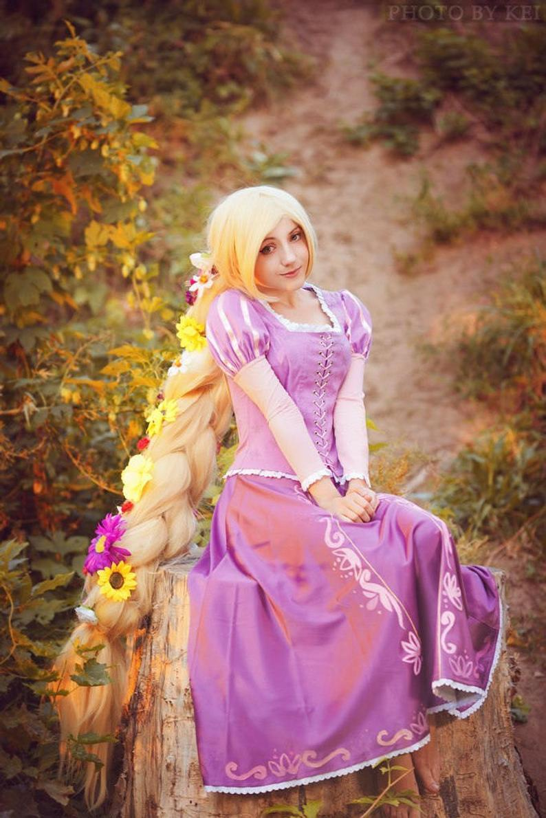 Princess Rapunzel Dress Purple Adults Rapunzel Outfit Costume for Women