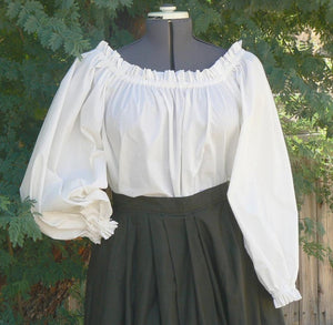 Renaissance Peasant Boho Shirt Blouse Chemise Pirate Wench Shirt Plus Size