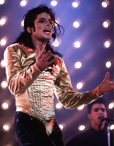 Michael Jackson Dangerous Tour Outfit Golden Bodysuit Costume