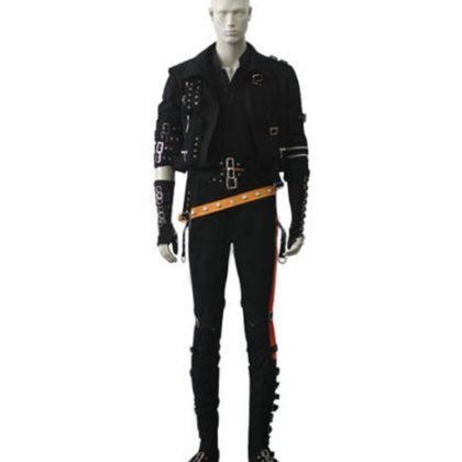 Michael Jackson Bad Outfit Black Full Costume for Male/Female/Kids