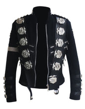 Load image into Gallery viewer, Michael Jackson Bad Tour Punk Badges Black Jacket Costume