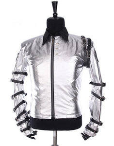 Michael Jackson Bad Tour Jacket Grey Silver Costume for Male, Female, Kids