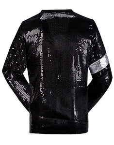 Michael Jackson Billie Jean Jacket Black Sequin Costume for Adult, Kids