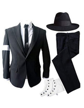 Load image into Gallery viewer, Michael Jackson Dangerous Costume Black Outfit for Adults/Girls/Boys