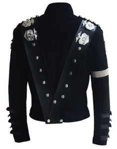 Michael Jackson Bad Tour Punk Badges Black Jacket Costume