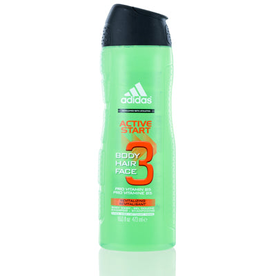 Adidas Active Start Coty Hair, Body & Face Gel 16.1 oz (473 ml) For Men